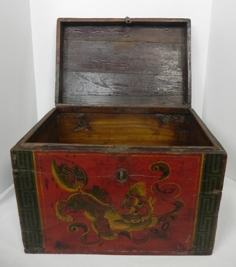 SHANXI, LATE 19TH CENTURY VINTAGE DECORATIVE ASIAN BOX - 2