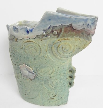 DECORATED POTTERY VASES - 2