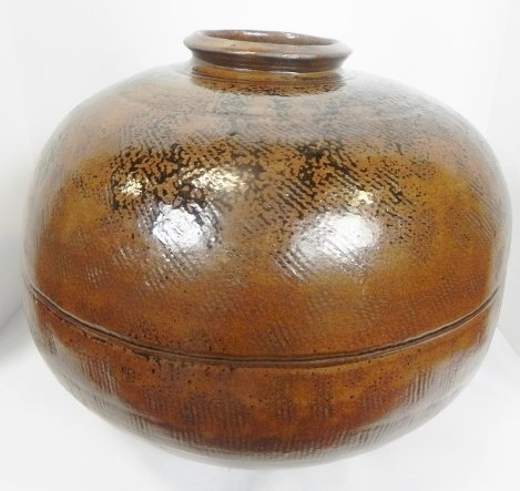 HAND THROWN POTTERY JAR