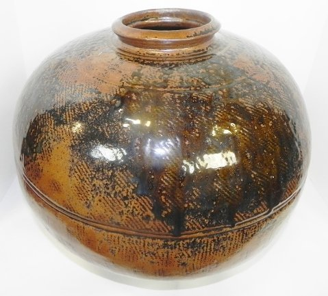 HAND THROWN POTTERY JAR - 3