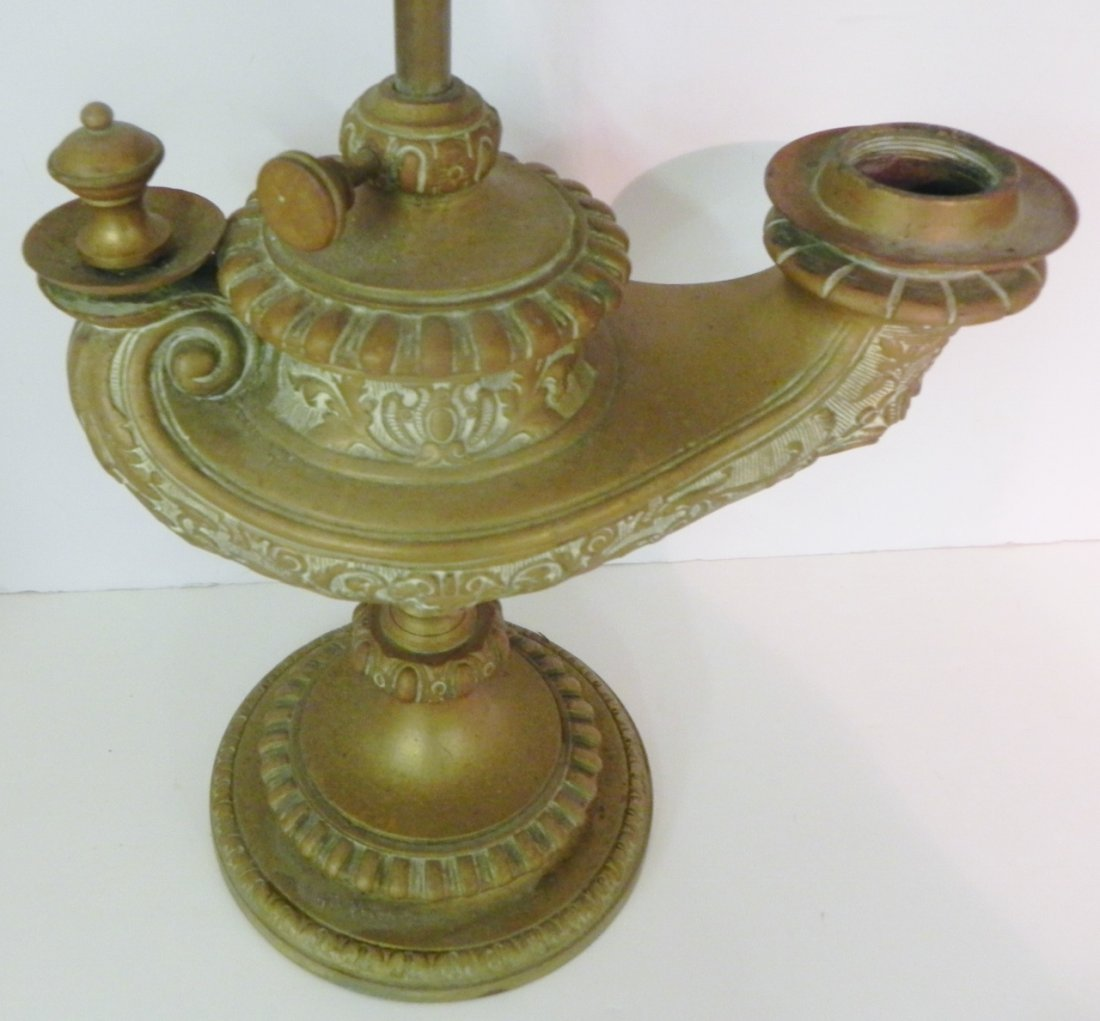 BRONZE GENIE LAMP - 2