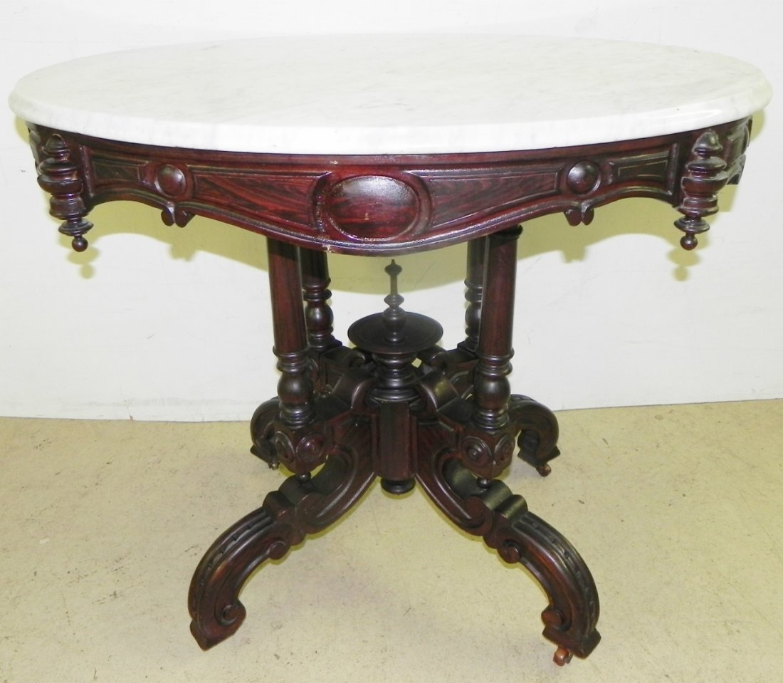CARVED PARLOR TABLE