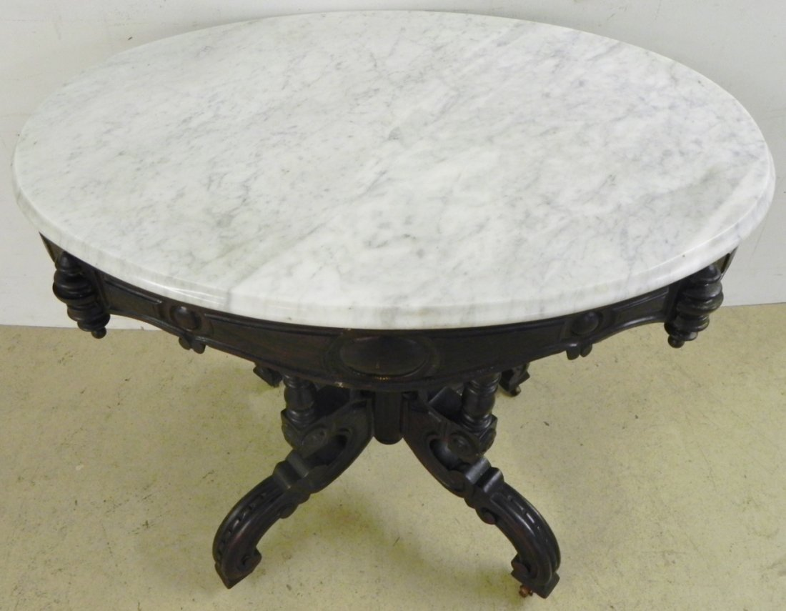 CARVED PARLOR TABLE - 2