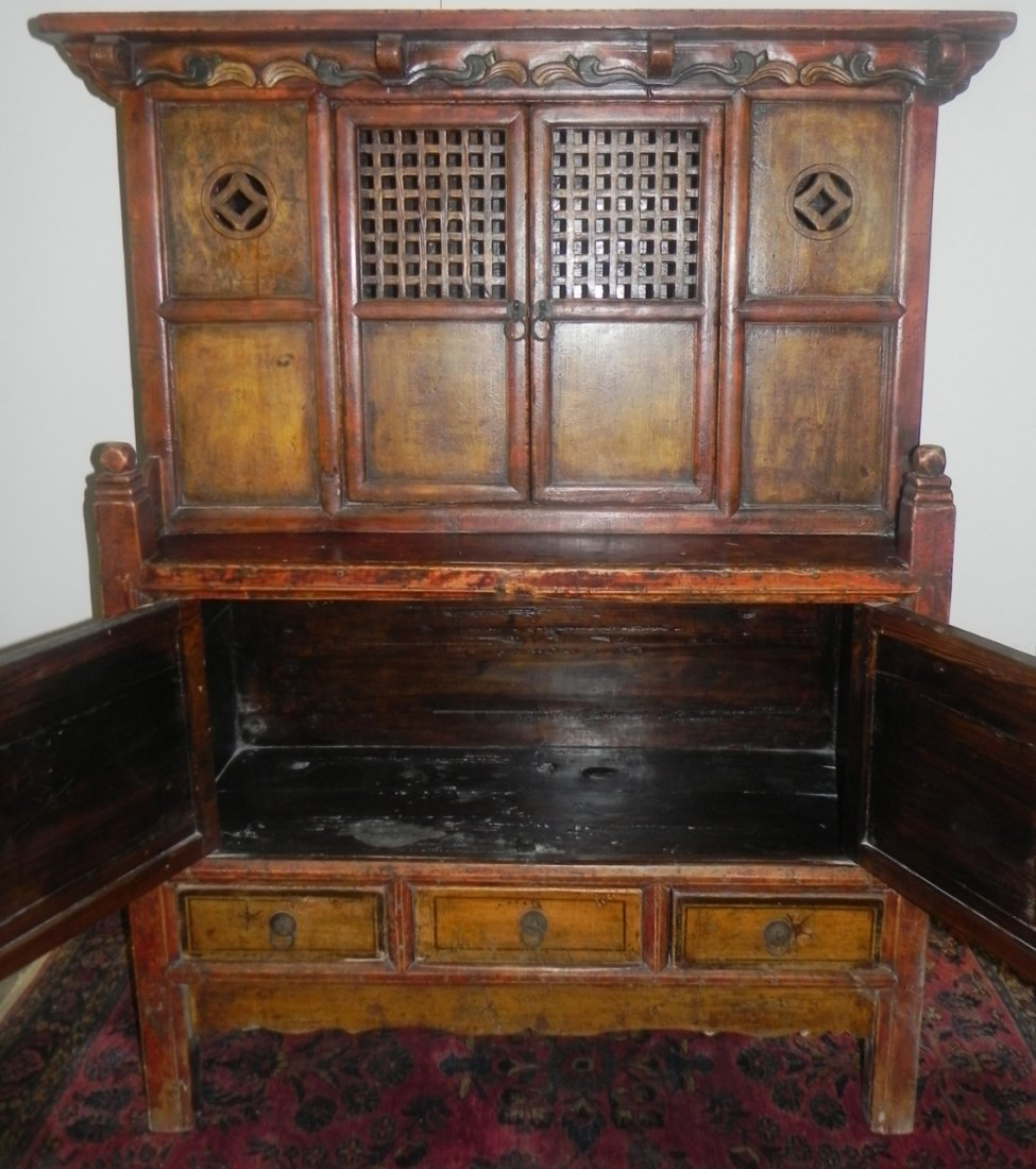 CARVED AND DECORATED ASIAN SIDE CABINET - 3