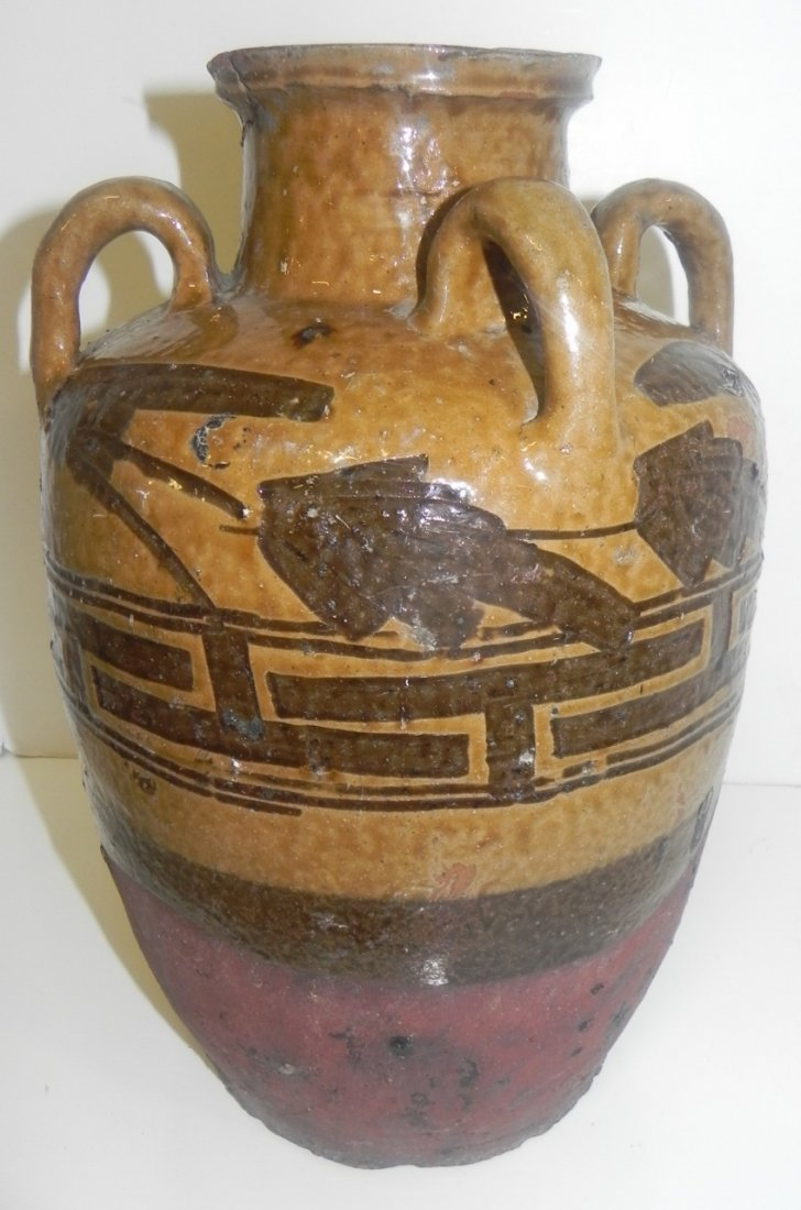 DECORATED POTTERY VASE - 2
