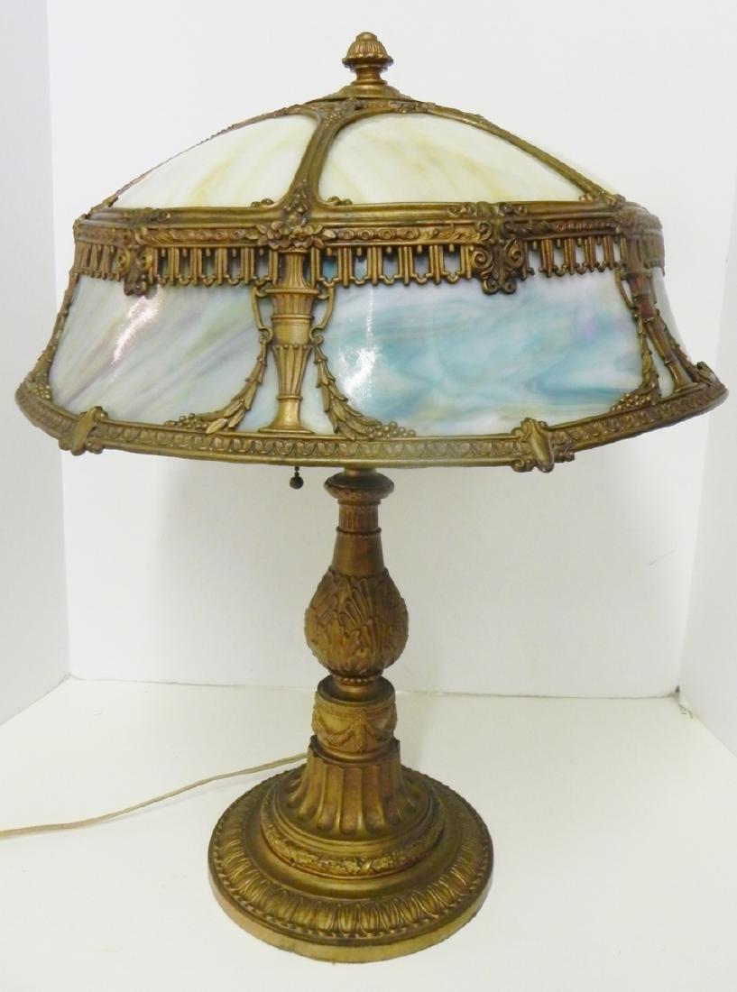 VICTORIAN SLAG GLASS LAMP