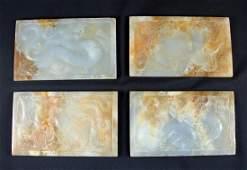 SET OF FOUR ANCIENT JADE PIECES