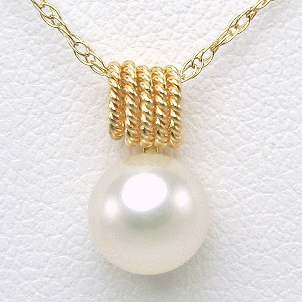 1010: 14KT 6mm Pearl Necklace 16in