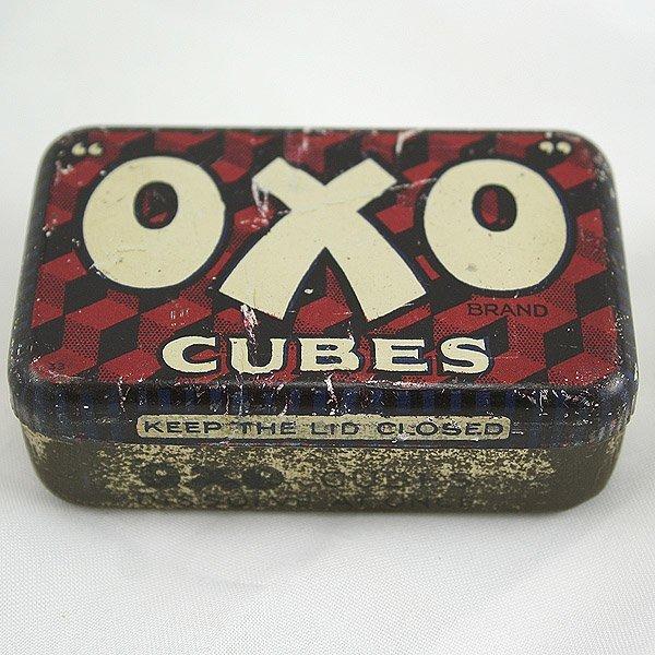 3017: Oxo Cubes Tin 75x45x25mm