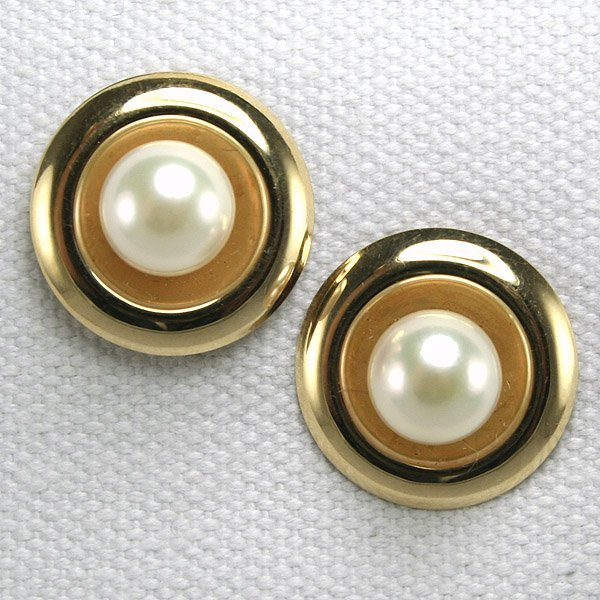3373: 14KT Fancy Pearl Earrings