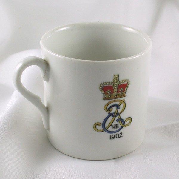 5013: 1902 King Edward VII Lithophane Cup