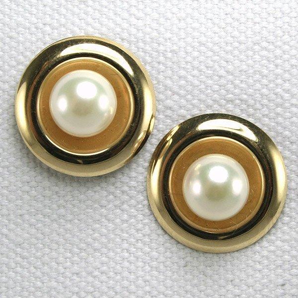 22224: 14KT Pearl Earrings