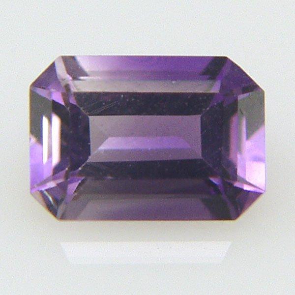22007: Emerald Cut Amethyst 7X5mm 0.80ct