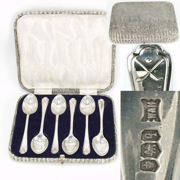 11081: 1933 Hallmarked Sheffield Spoon Set 110mm