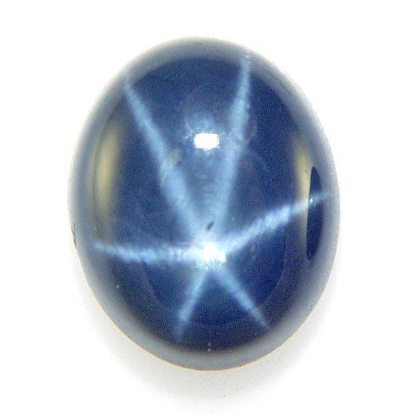 21049: 4.94ct Blue Star Sapphire 8.21x10.06mm