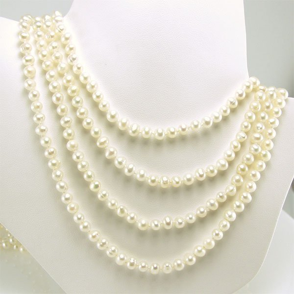 21052: 4.5-5mm Freshwater Endless Pearl Necklace 100in