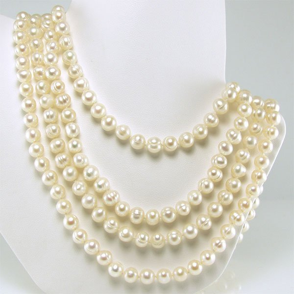 31045: 6-7mm Freshwater Endless Pearl Necklace 100in