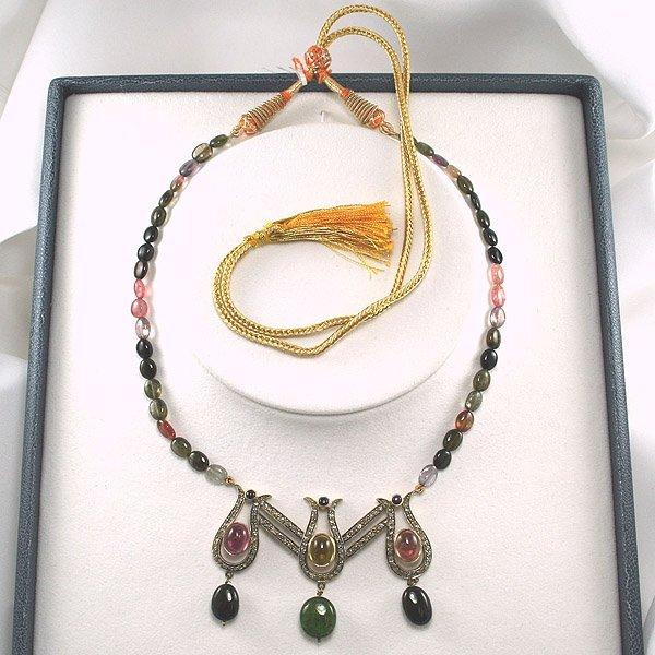 42445: Diamond & Tourmaline Necklace 81.40 Carats! - 2
