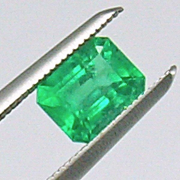 51032: 0.44ct Emerald Cut Emerald 4x5mm