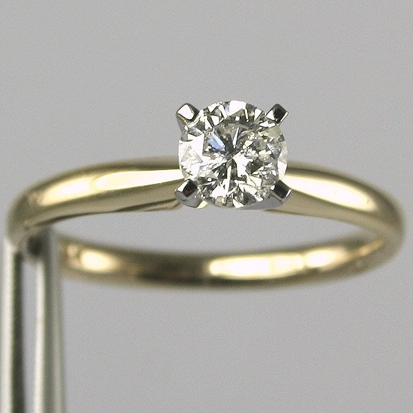 11221: 14KT 0.50CT Diamond Solitaire Ring Size 6.5