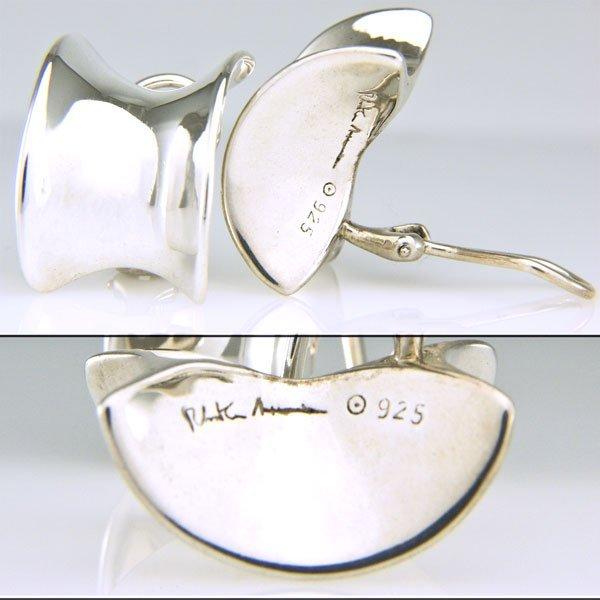 41022: SS Robert Lee Morris Fashion Clip-On Earring