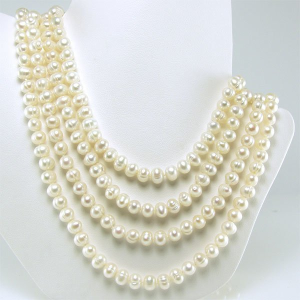 51078: 5.5-6.5mm Freshwater Endless Pearl Necklace 100i
