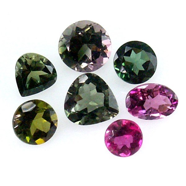 31028: MULTI COLOR TOURMALINE LOTS 3.66CTS