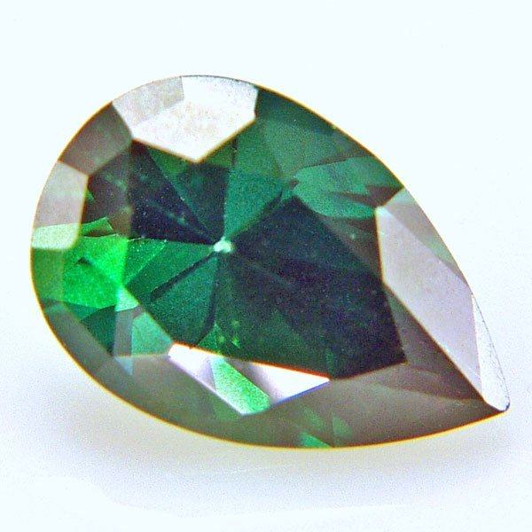 41016: EVERGREEN TOPAZ 12X8MM TEARDROP CUT  3.73CTS
