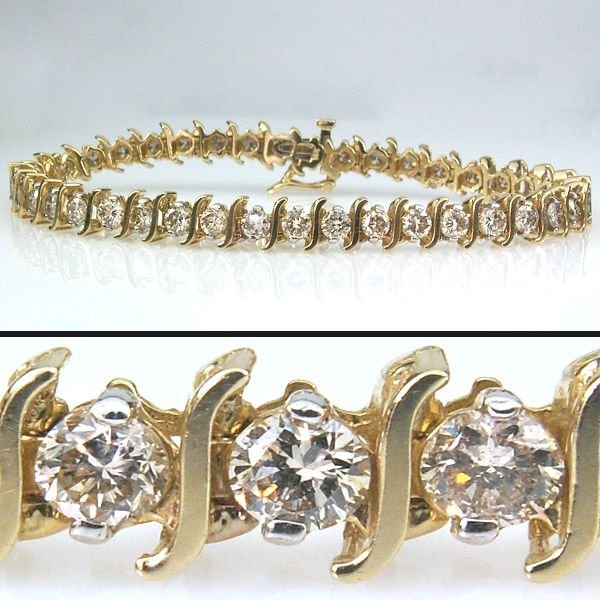 41355: 6 CARAT DIAMOND TENNIS BRACELET - 7.5 INCHES