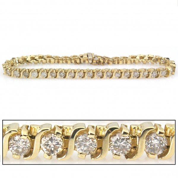 51130: 5 CARAT DIAMOND TENNIS BRACELET - 7.5 INCHES