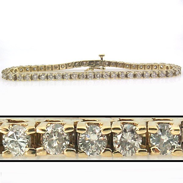 51489: 5 CARAT DIAMOND TENNIS BRACELET - 7 INCHES