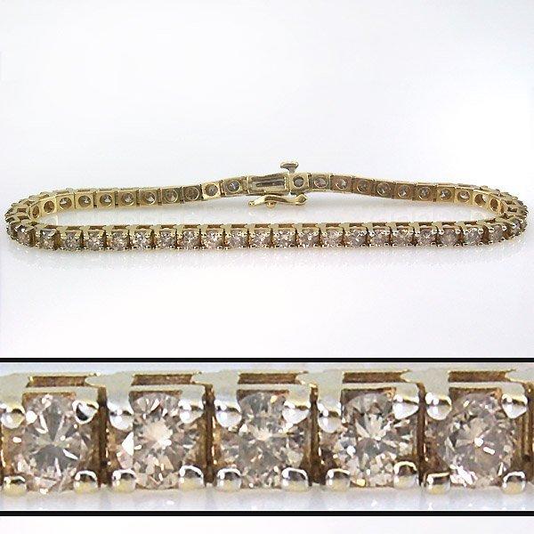 11022: 4 CARAT DIAMOND TENNIS BRACELET - 7 INCHES