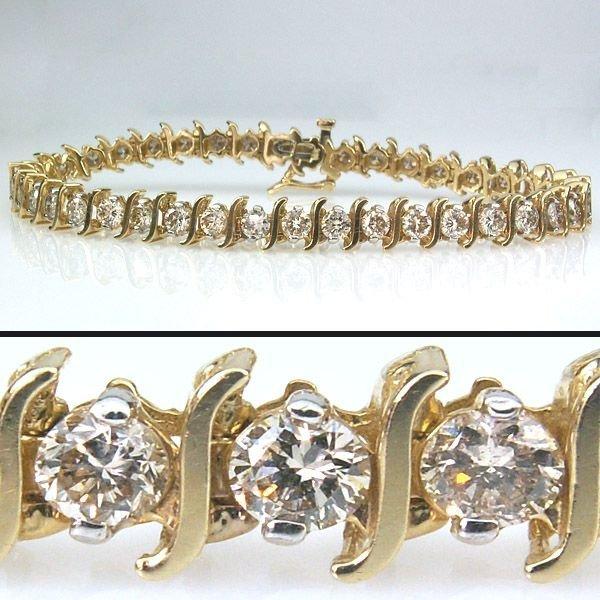 11355: 6 CARAT DIAMOND TENNIS BRACELET - 7.5 INCHES