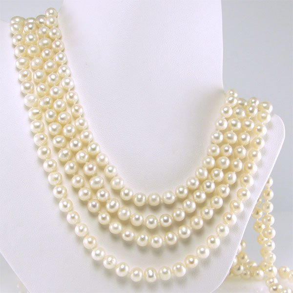 41009: 6-6.5MM FRESHWATER ENDLESS PEARL NECKLACE 100IN