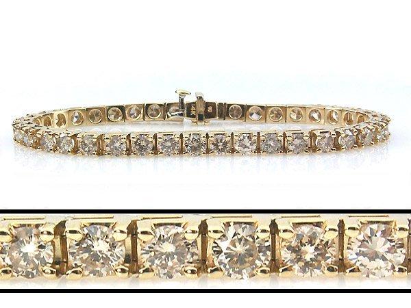 51357: 8 CARAT DIAMOND TENNIS BRACELET - 7 INCHES