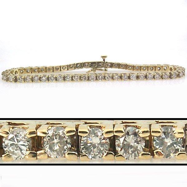 21489: 5 CARAT DIAMOND TENNIS BRACELET - 7 INCHES