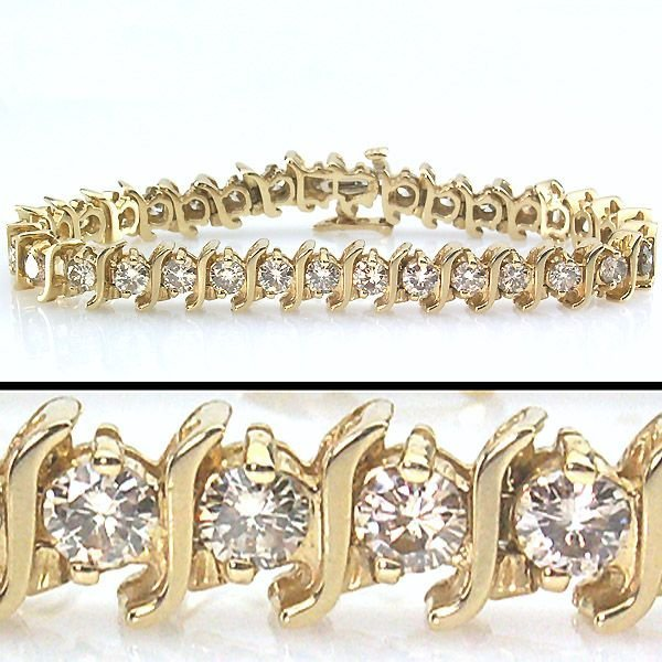 21638: 7 CARAT DIAMOND TENNIS BRACELET - 7.25 INCHES