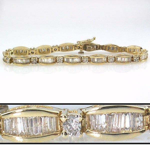 12666: 3 CARAT DIAMOND BRACELET - 6 INCHES