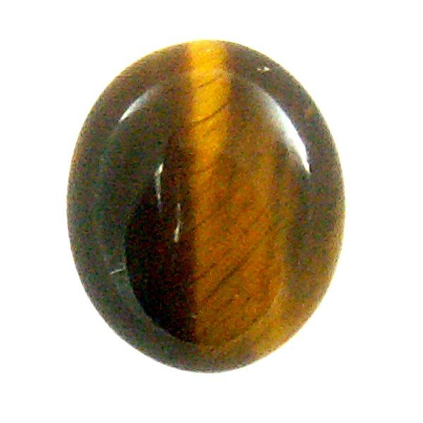 41023: 5.53CT OVAL TIGERS EYE 10X12MM