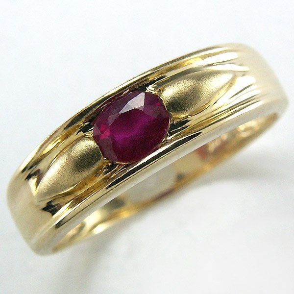 41061: 14KT RUBY RING 0.39 TCW