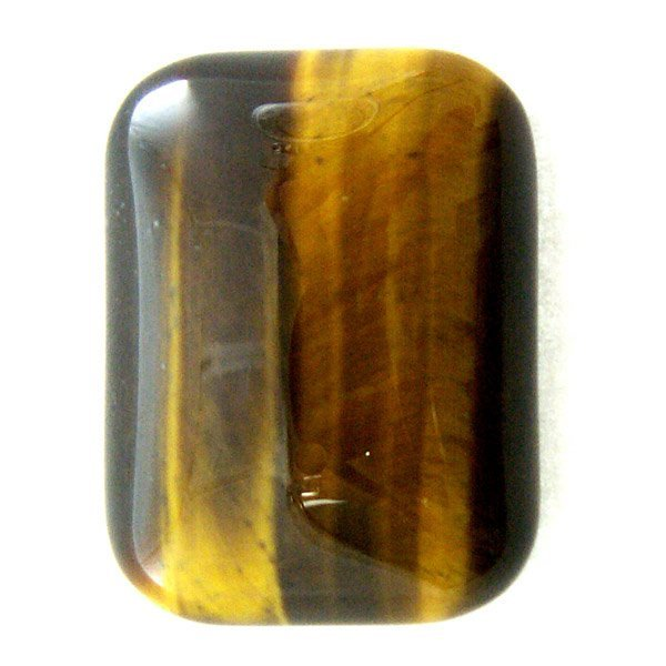 51051: 18.99CT SQUARE CABS TIGERS EYE 20X15MM