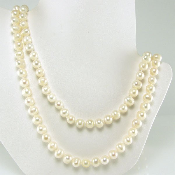 31021: 6-6.5MM FRESHWATER PEARL NECKLACE 48IN
