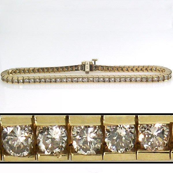 31268: 3 CARAT DIAMOND TENNIS BRACELET - 7 INCHES