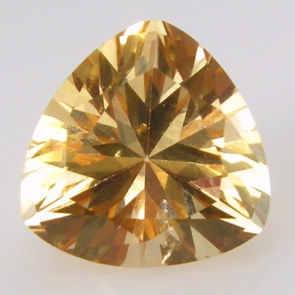 11025: CHAMPAGNE TOPAZ 10MM TRIANGLE CUT APRX 4.00CTS