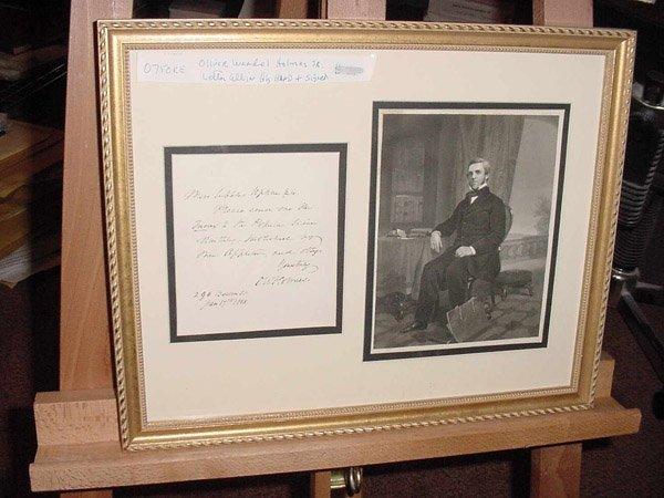10013: OLIVER WENDELL HOLMES SR. ALS FRAMED ENSEMBLE