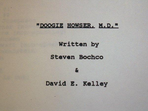 10081: DOOGIE HOWSER CAST SIGNED SCRIPT - 3