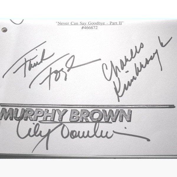 10210: MURPHY BROWN SCRIPT CAST SIGNED