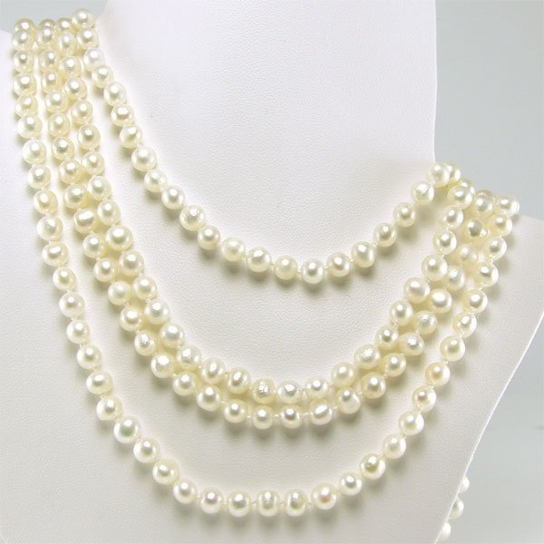 21020: 4.5-5.5MM FRESHWATER ENDLESS PEARL NECKLACE 100I