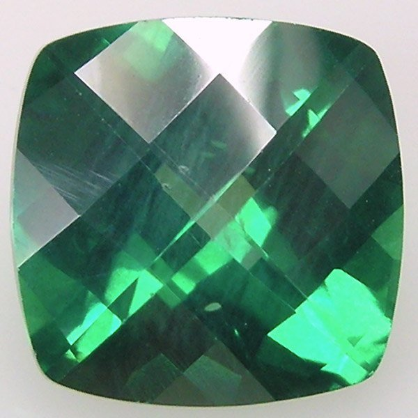 21024: EVERGREEN TOPAZ SQUARE CUT 7MM APRX 1.62CTS