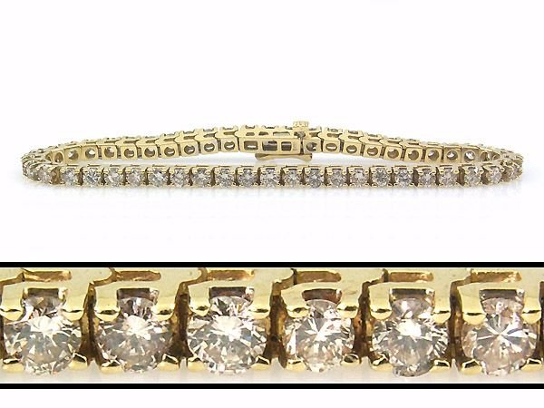 22575: 5 CARAT DIAMOND TENNIS BRACELET - 7 INCHES